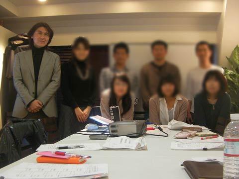 受講生のみなさんと  2011年2月27日