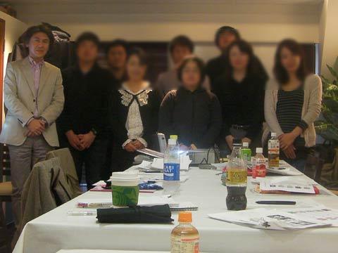 受講生のみなさんと 2011年3月27日