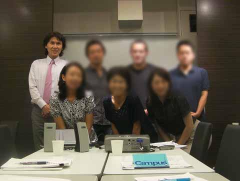 受講生の皆さんと 2011年9月
