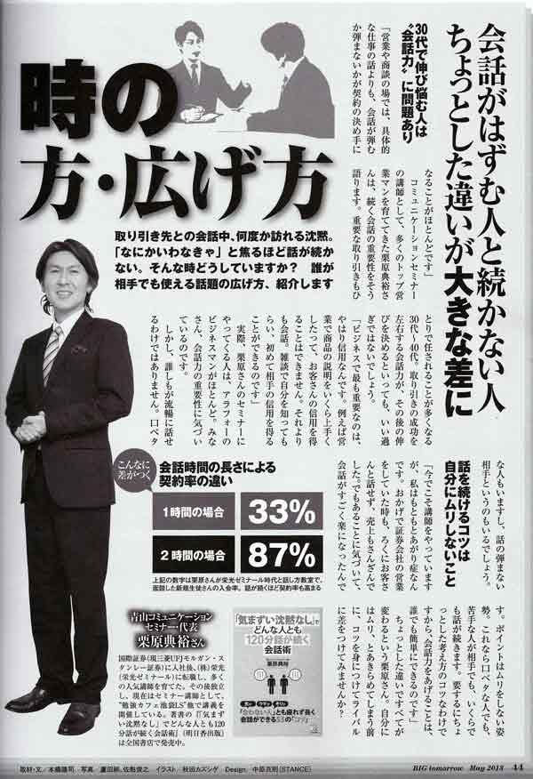 ビックビッグトゥモロー 2013年5月号 栗原典裕インタビュー①