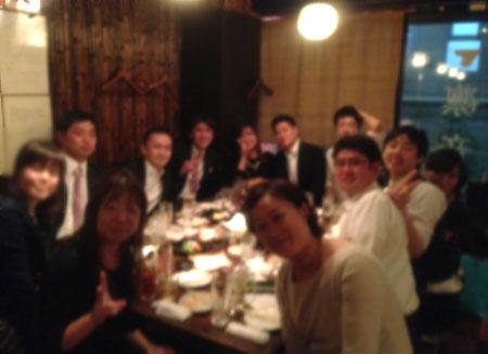 TALK・LAB(トークラボ)卒業生の中野さんの結婚パーティー後