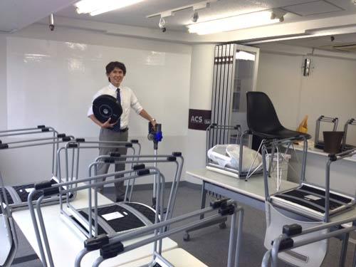 渋谷の話し方教室トークラボの掃除ツートップ